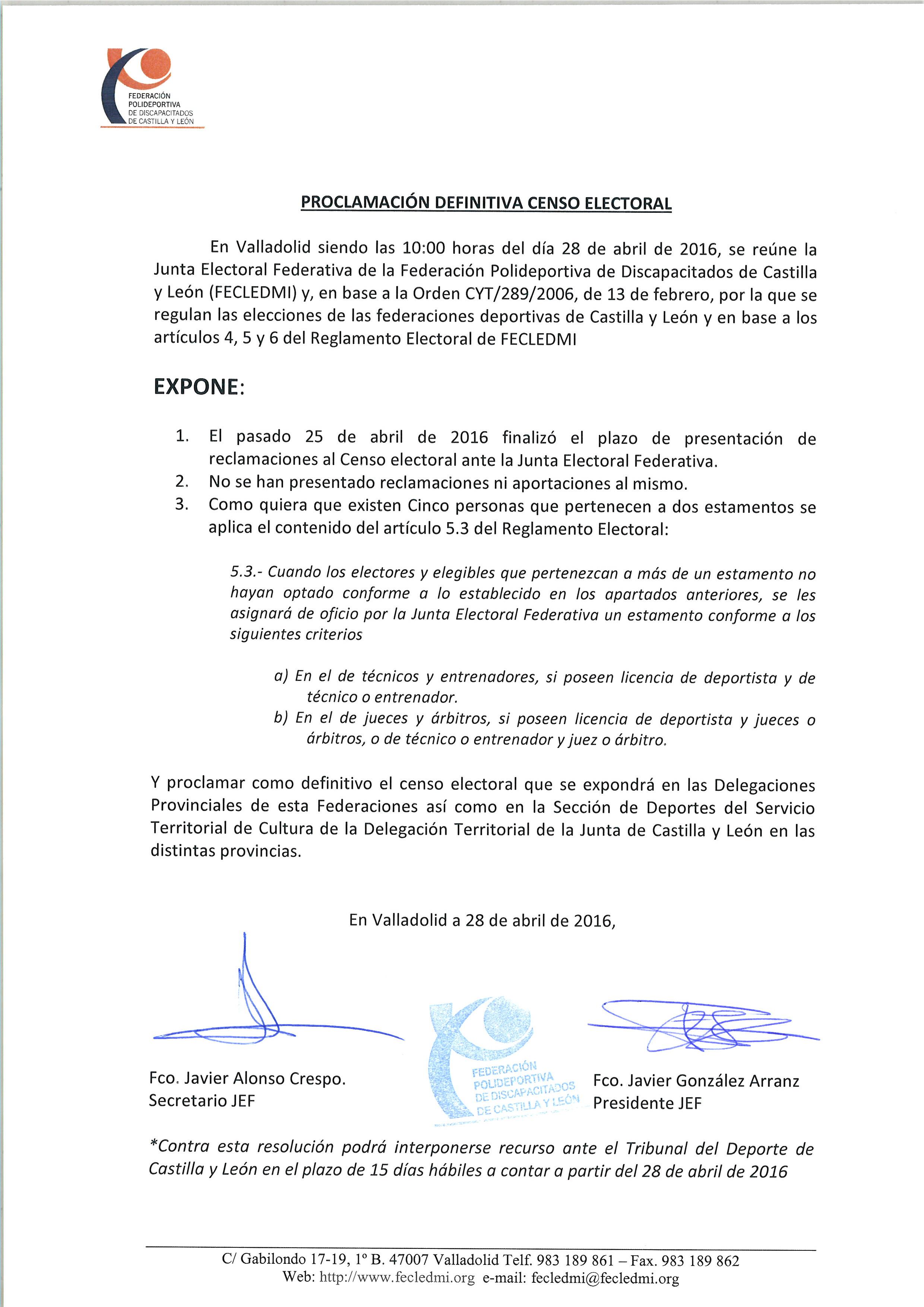13 Proclamacion Definitina Censo Electoral Web