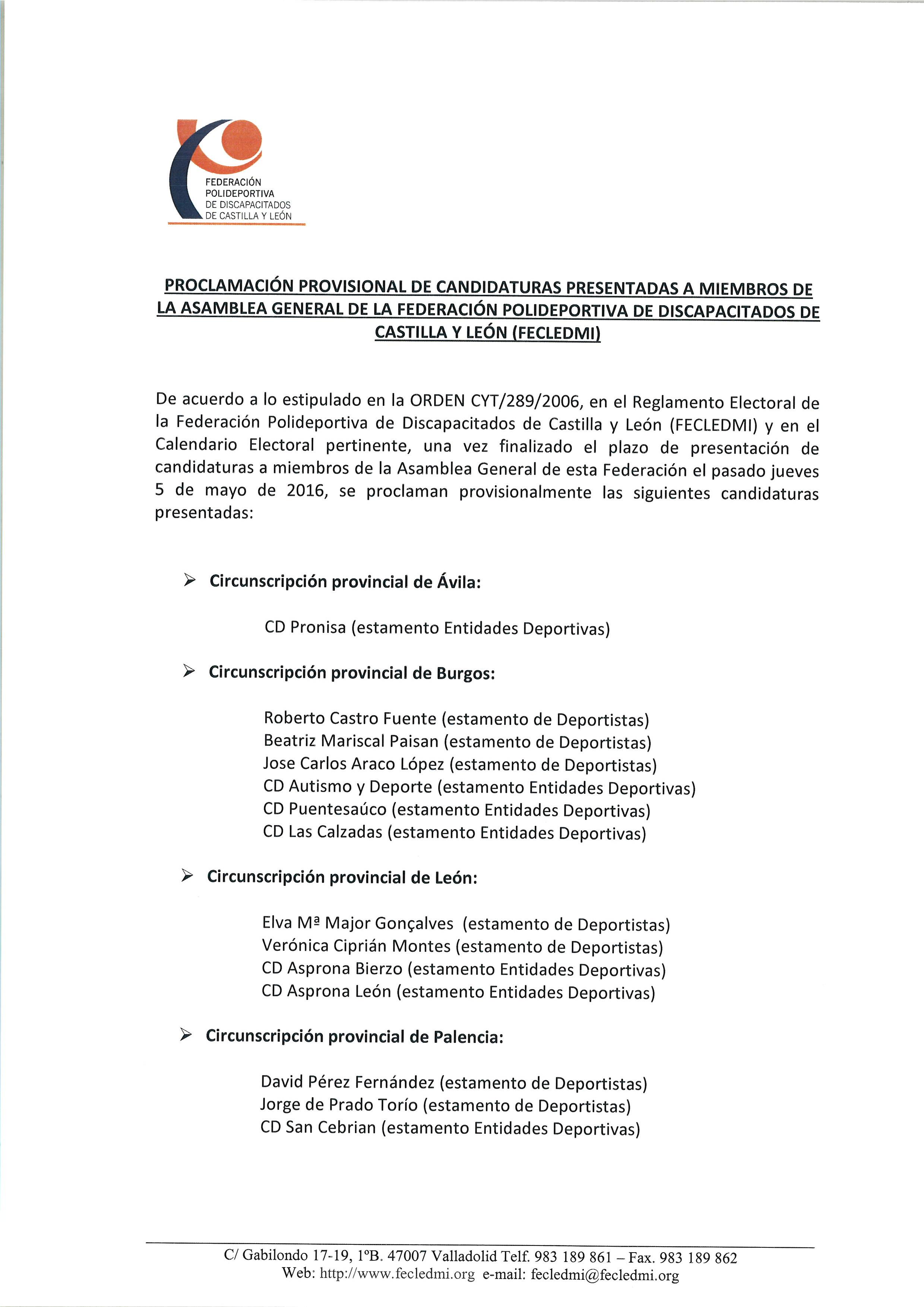 14 Proclamacion Provisional Candidaturas Pgina 1