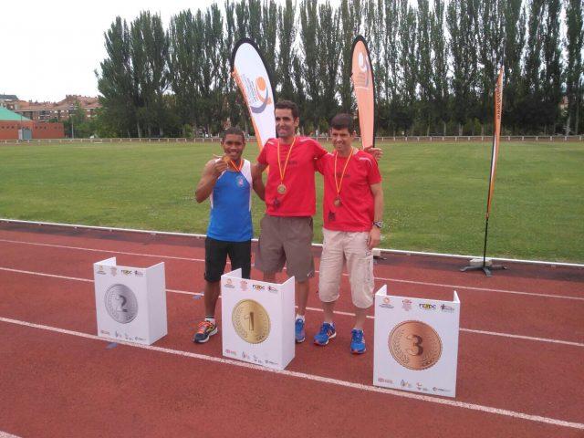 Podio del 1.500 del Campeonato de España de Atletismo de Burgos./ FECLEDMI
