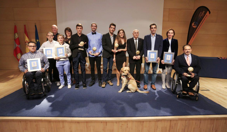 Premiados en la I Gala del Deporte Adaptado de Castilla y León. ALBERTO MINGUEZA