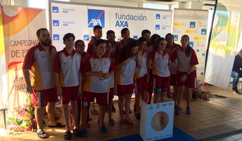 Selección de Castilla y León de Natación, bronce en el Campeonato AXA. FEDEACYL
