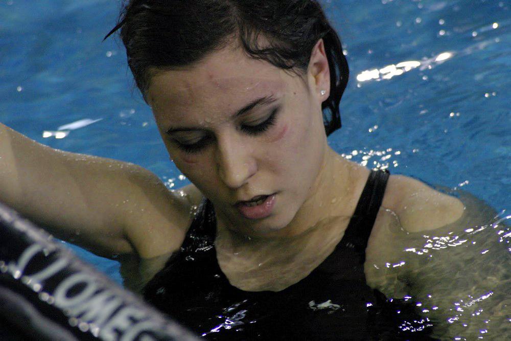 Ester Rodríguez, protagonista de la cuarta Liga de Natación Adaptada de Castilla y León. FEDEACYL