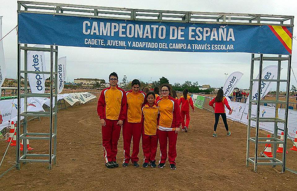 La selección de Castilla y León adaptada en San Pedro del Pinatar. FEDEACYL
