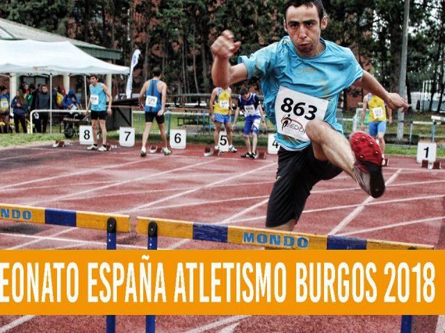 Desafío a la lluvia y al agua en el Campeonato de España de Atletismo de Burgos 2018