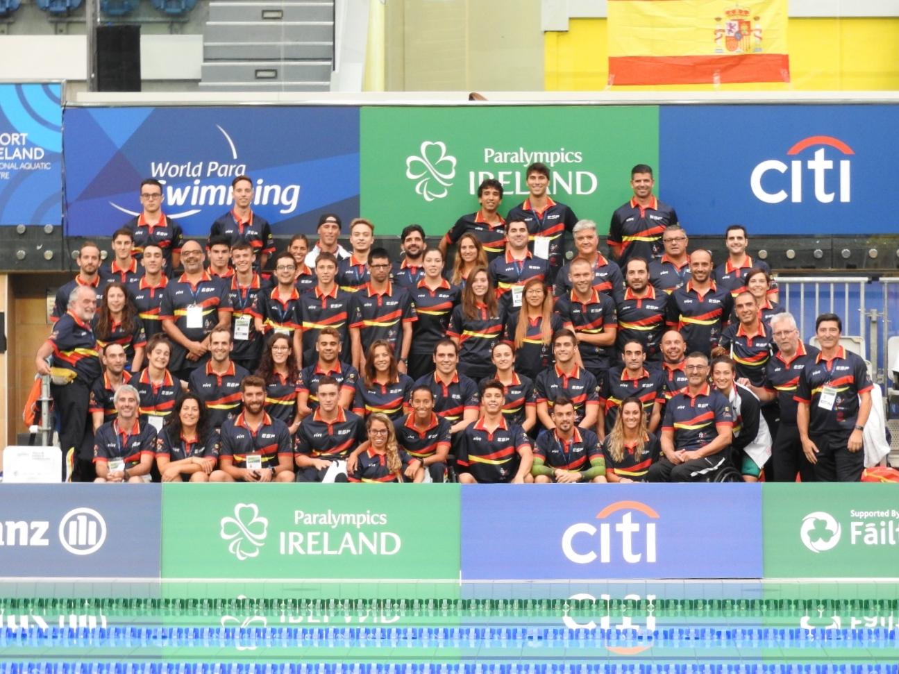 La selección española de natación paralímpica. / FEDEACYL