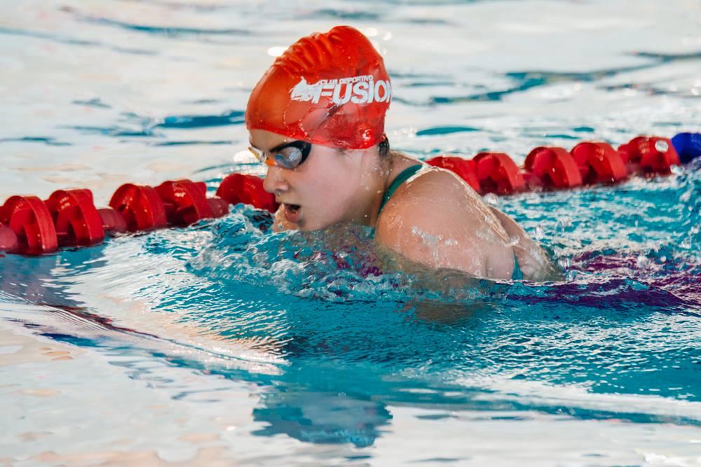 Carla Santos, nadadora de la selección de Castilla y León. FEDEACYL