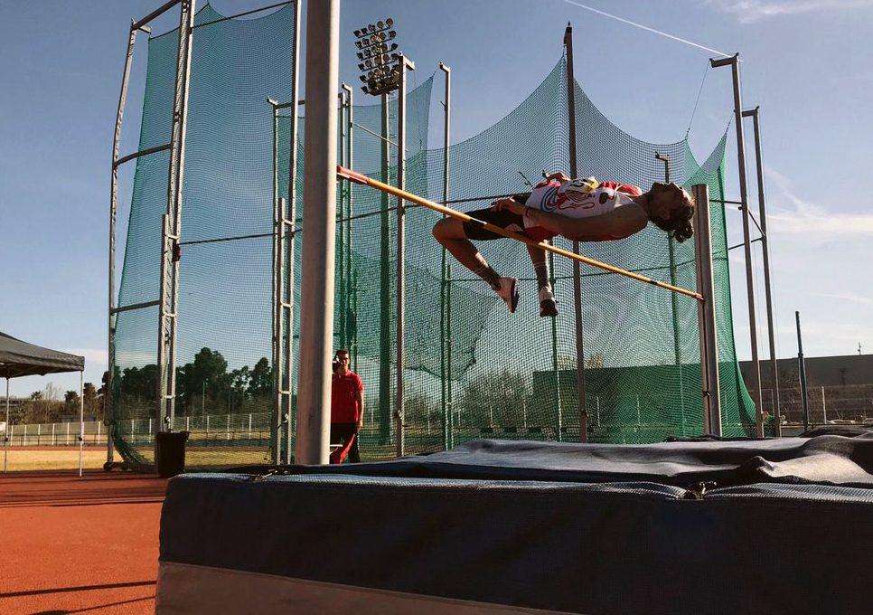 Daniel Pérez, campeón de España de triple salto.