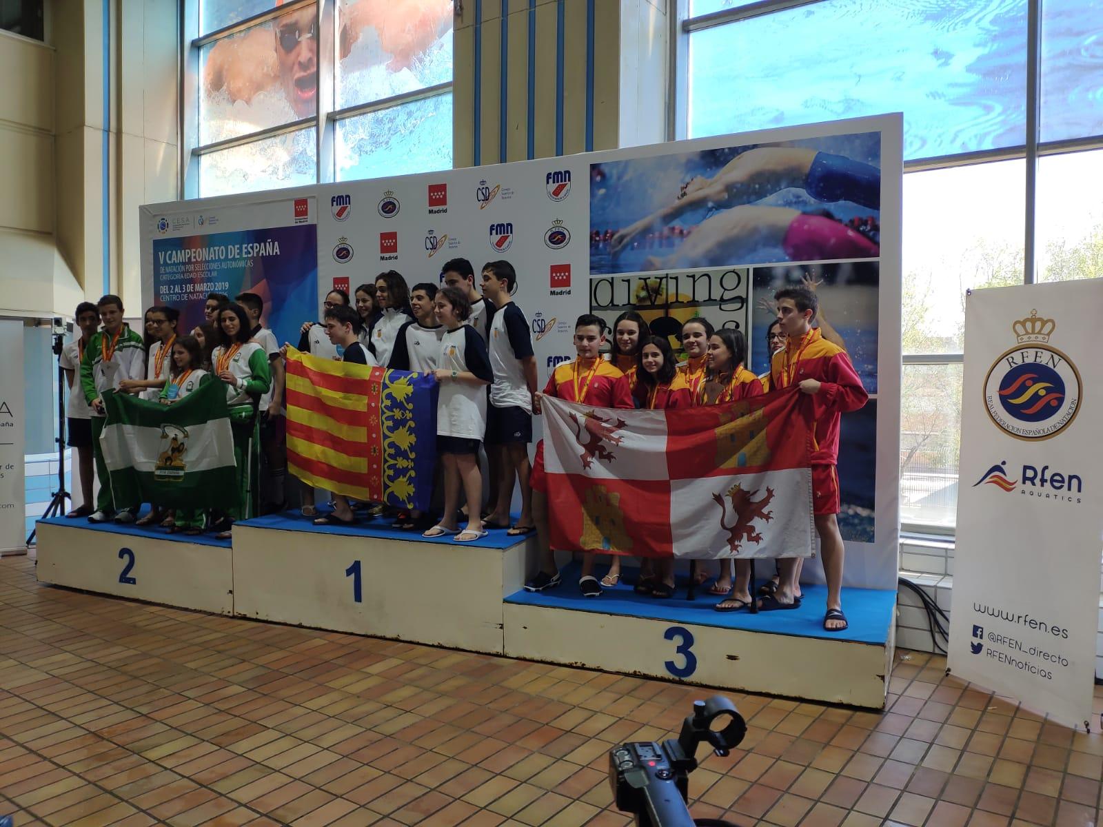 La selección de Castilla inclusiva, tercera en el Nacional. FEDEACYL
