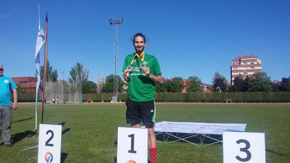 Daniel Pérez, medallista en los Juegos Polideportivos de Deporte Adaptado. FEDEACYL