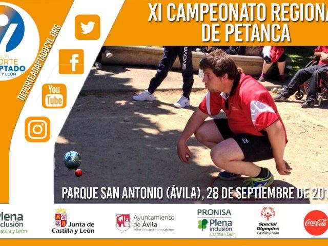 XI Campeonato Regional de Petanca