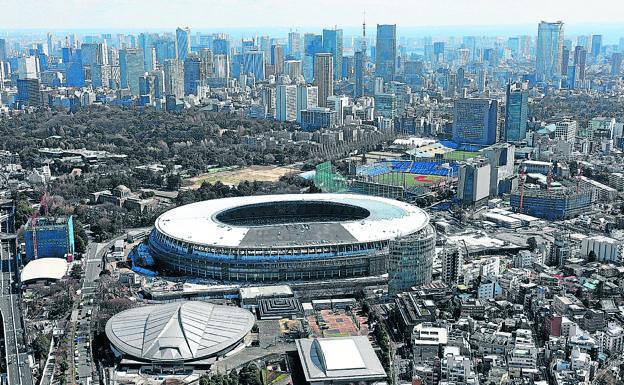 Vista actual de Tokio, con el estadio olímpico terminado. FEDEACYL