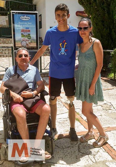 Luis Huerta, en la campaña Mójate contra la esclerosis múltiple. FEDEACYL