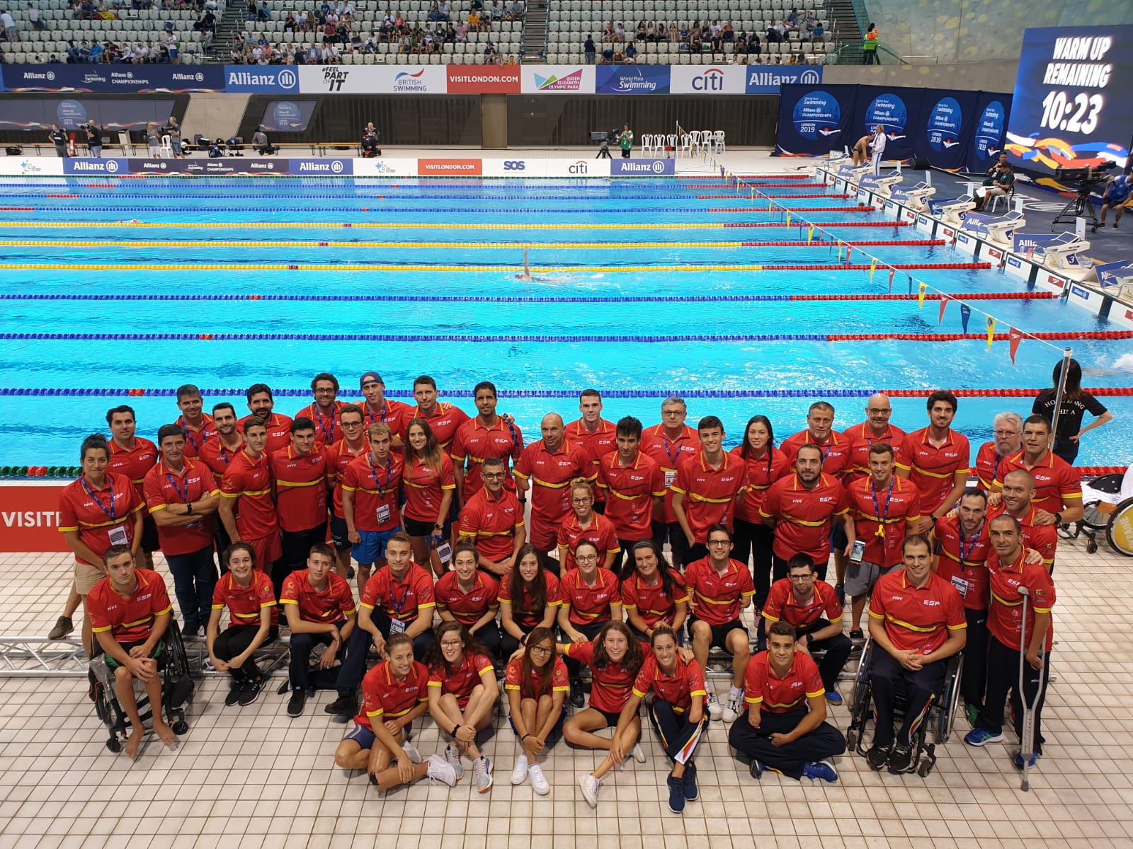 Selección española participante en el Mundial de Londres. PARALIMPICOS