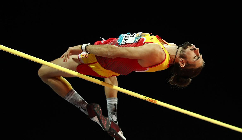 Daniel Pérez, noveno en el salto de altura en el Mundial de Dubai.