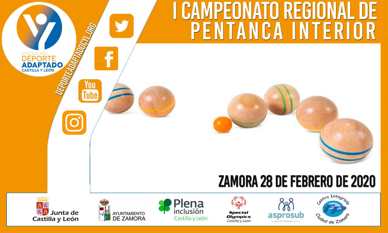 I Campeonato Regional de Petanca Interior