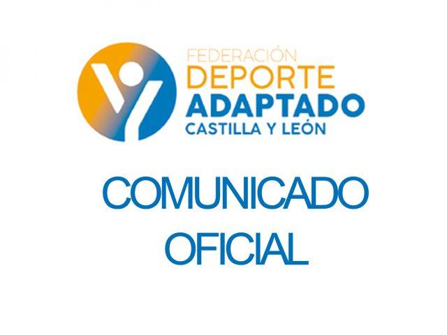 Comunicado oficial: el coronavirus afecta al deporte adaptado de Castilla y León