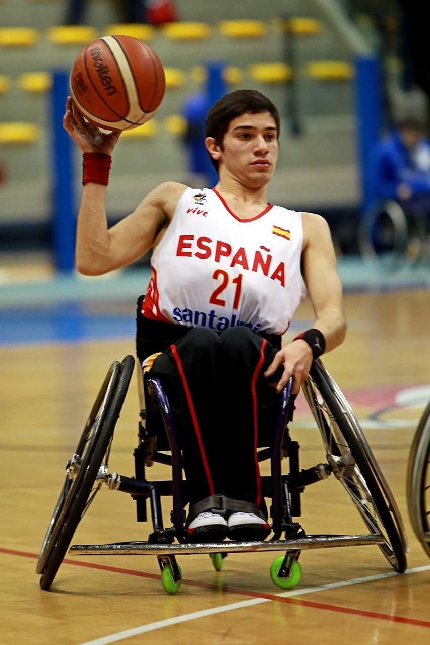 Pablo Lavandeira con la selección española. FEDDF