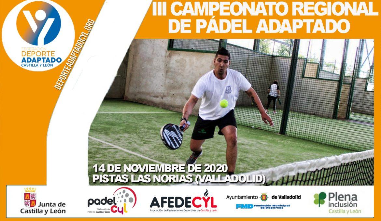 Campeonato Regional de Pádel 2020. FEDEACYL