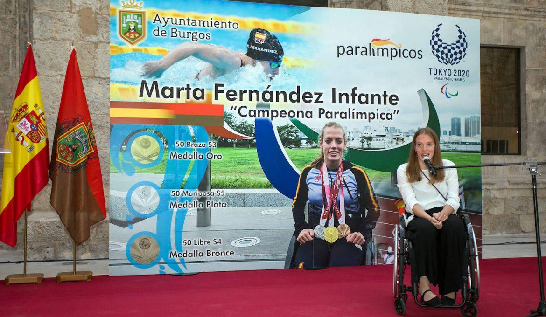 Reconocimiento a Marta Fernández en el Ayuntamiento de Burgos